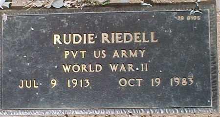 RIEDELL, RUDIE - Maricopa County, Arizona   RUDIE RIEDELL - Arizona Gravestone Photos