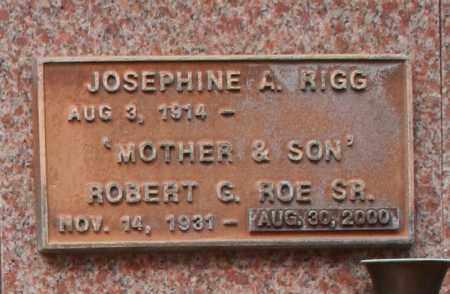 RIGG, JOSEPHINE A. - Maricopa County, Arizona   JOSEPHINE A. RIGG - Arizona Gravestone Photos