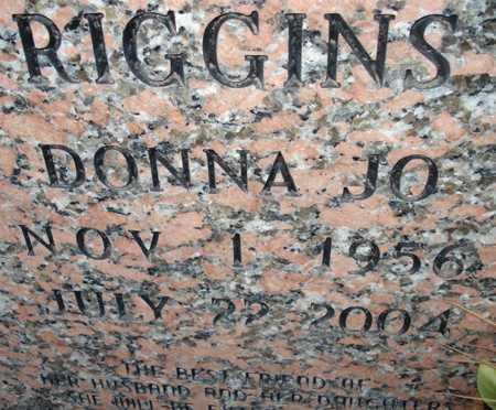RIGGINS, DONNA JO - Maricopa County, Arizona | DONNA JO RIGGINS - Arizona Gravestone Photos