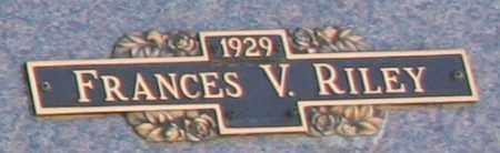 RILEY, FRANCES V - Maricopa County, Arizona   FRANCES V RILEY - Arizona Gravestone Photos