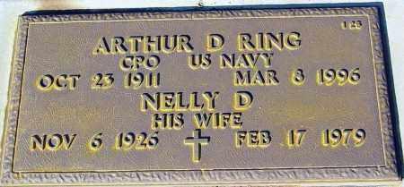 RING, NELLY D. - Maricopa County, Arizona | NELLY D. RING - Arizona Gravestone Photos