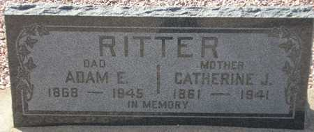 RITTER, ADAM E. - Maricopa County, Arizona | ADAM E. RITTER - Arizona Gravestone Photos