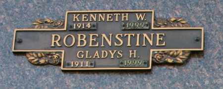 ROBENSTINE, KENNETH W - Maricopa County, Arizona | KENNETH W ROBENSTINE - Arizona Gravestone Photos