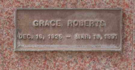 ROBERTS, GRACE - Maricopa County, Arizona   GRACE ROBERTS - Arizona Gravestone Photos