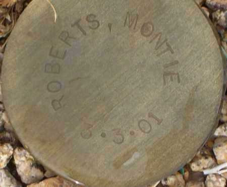 ROBERTS, MONTIE - Maricopa County, Arizona | MONTIE ROBERTS - Arizona Gravestone Photos