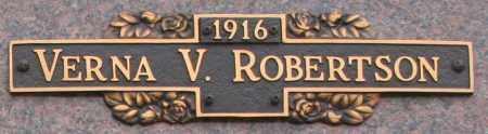 ROBERTSON, VERNA V - Maricopa County, Arizona | VERNA V ROBERTSON - Arizona Gravestone Photos