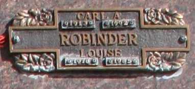ROBINDER, LOUISE - Maricopa County, Arizona | LOUISE ROBINDER - Arizona Gravestone Photos
