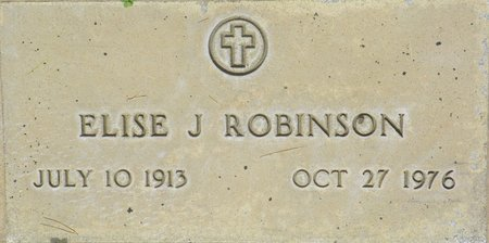 ROBINSON, ELISE J - Maricopa County, Arizona   ELISE J ROBINSON - Arizona Gravestone Photos