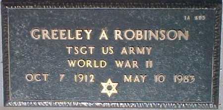 ROBINSON, GREELEY A. - Maricopa County, Arizona | GREELEY A. ROBINSON - Arizona Gravestone Photos