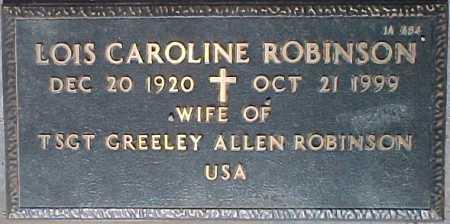 ROBINSON, LOIS CAROLINE - Maricopa County, Arizona | LOIS CAROLINE ROBINSON - Arizona Gravestone Photos