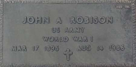 ROBISON, JOHN A. - Maricopa County, Arizona | JOHN A. ROBISON - Arizona Gravestone Photos