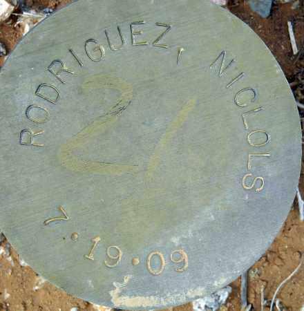 RODRIGUEZ, NICLOLS - Maricopa County, Arizona | NICLOLS RODRIGUEZ - Arizona Gravestone Photos