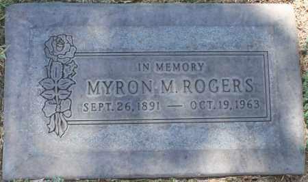 ROGERS, MYRON M. - Maricopa County, Arizona | MYRON M. ROGERS - Arizona Gravestone Photos