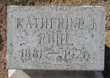 CARSTEN ROHE, KATHERINE J - Maricopa County, Arizona | KATHERINE J CARSTEN ROHE - Arizona Gravestone Photos