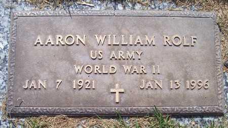 ROLF, AARON WILLIAM - Maricopa County, Arizona   AARON WILLIAM ROLF - Arizona Gravestone Photos