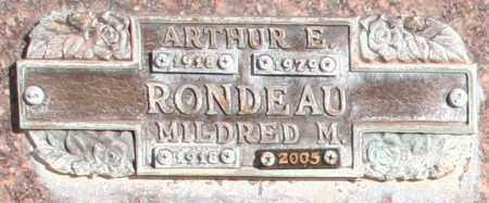 RONDEAU, ARTHUR E - Maricopa County, Arizona | ARTHUR E RONDEAU - Arizona Gravestone Photos