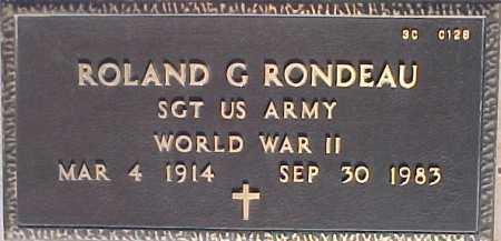 RONDEAU, ROLAND G. - Maricopa County, Arizona | ROLAND G. RONDEAU - Arizona Gravestone Photos