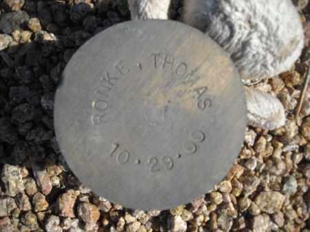 RONKE, THOMAS - Maricopa County, Arizona | THOMAS RONKE - Arizona Gravestone Photos