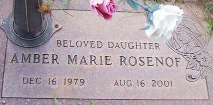 ROSENOF, AMBER MARIE - Maricopa County, Arizona | AMBER MARIE ROSENOF - Arizona Gravestone Photos