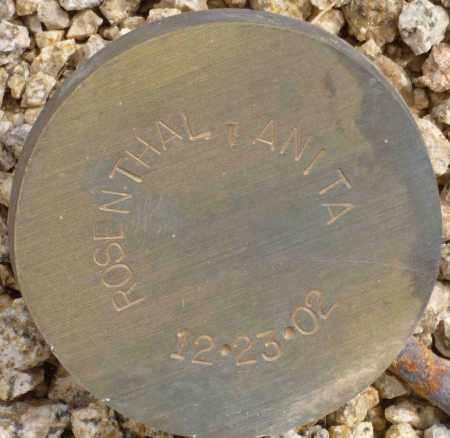 ROSENTHAL, ANITA - Maricopa County, Arizona | ANITA ROSENTHAL - Arizona Gravestone Photos