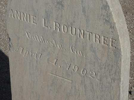 ROUNDTREE, ANNIE L - Maricopa County, Arizona   ANNIE L ROUNDTREE - Arizona Gravestone Photos