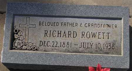 ROWETT, RICHARD - Maricopa County, Arizona | RICHARD ROWETT - Arizona Gravestone Photos