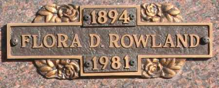 ROWLAND, FLORA D - Maricopa County, Arizona | FLORA D ROWLAND - Arizona Gravestone Photos