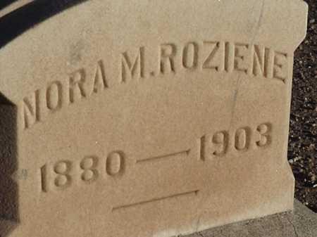 ROZIENE, NORA M - Maricopa County, Arizona | NORA M ROZIENE - Arizona Gravestone Photos