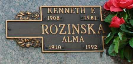 ROZINSKA, ALMA - Maricopa County, Arizona | ALMA ROZINSKA - Arizona Gravestone Photos