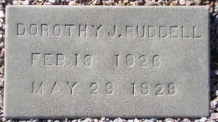 RUDDELL, DOROTHY J. - Maricopa County, Arizona   DOROTHY J. RUDDELL - Arizona Gravestone Photos