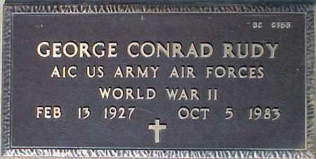 RUDY, GEORGE CONRAD - Maricopa County, Arizona | GEORGE CONRAD RUDY - Arizona Gravestone Photos
