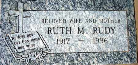 RUDY, RUTH M. - Maricopa County, Arizona   RUTH M. RUDY - Arizona Gravestone Photos