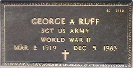 RUFF, GEORGE A. - Maricopa County, Arizona | GEORGE A. RUFF - Arizona Gravestone Photos