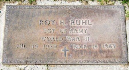 RUHL, ROY H. - Maricopa County, Arizona | ROY H. RUHL - Arizona Gravestone Photos