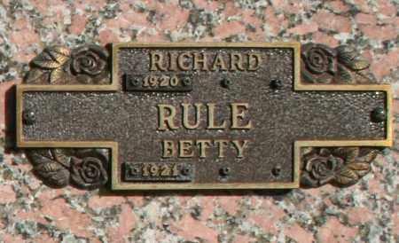RULE, BETTY - Maricopa County, Arizona | BETTY RULE - Arizona Gravestone Photos