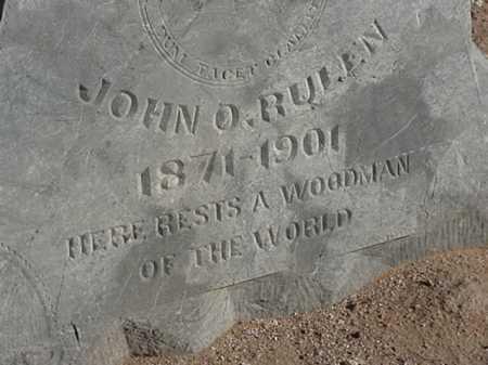 RULEN, JOHN O - Maricopa County, Arizona | JOHN O RULEN - Arizona Gravestone Photos