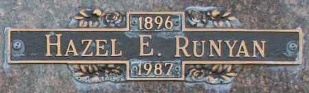 RUNYAN, HAZEL E - Maricopa County, Arizona | HAZEL E RUNYAN - Arizona Gravestone Photos