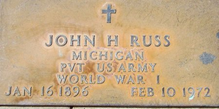 RUSS, JOHN H. - Maricopa County, Arizona | JOHN H. RUSS - Arizona Gravestone Photos