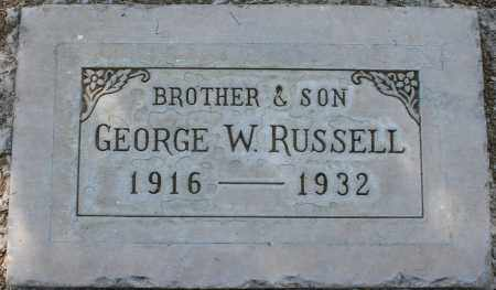 RUSSELL, GEORGE W. - Maricopa County, Arizona | GEORGE W. RUSSELL - Arizona Gravestone Photos