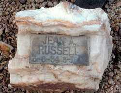 ALBACH RUSSELL, JEAN - Maricopa County, Arizona | JEAN ALBACH RUSSELL - Arizona Gravestone Photos
