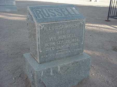 RUSSELL, R LOUISA - Maricopa County, Arizona | R LOUISA RUSSELL - Arizona Gravestone Photos
