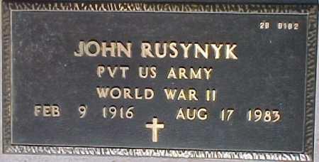RUSYNYK, JOHN - Maricopa County, Arizona   JOHN RUSYNYK - Arizona Gravestone Photos