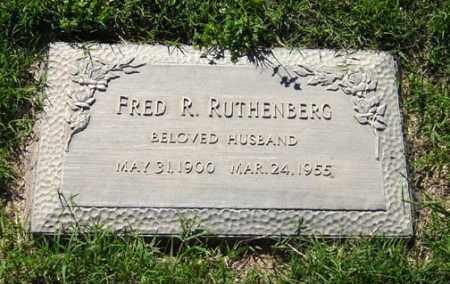 RUTHENBERG, FRED R. - Maricopa County, Arizona | FRED R. RUTHENBERG - Arizona Gravestone Photos