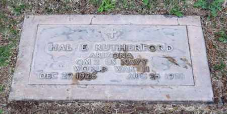 RUTHERFORD, HAL E. - Maricopa County, Arizona | HAL E. RUTHERFORD - Arizona Gravestone Photos