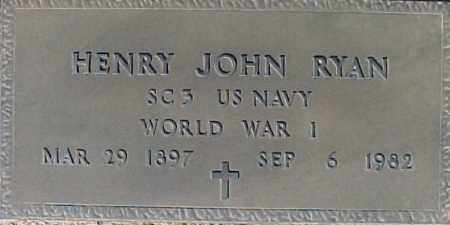 RYAN, HENRY JOHN - Maricopa County, Arizona | HENRY JOHN RYAN - Arizona Gravestone Photos