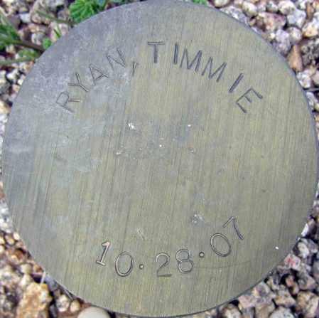 RYAN, TIMMIE - Maricopa County, Arizona   TIMMIE RYAN - Arizona Gravestone Photos