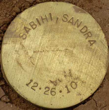 SABIHI, SANDRA - Maricopa County, Arizona | SANDRA SABIHI - Arizona Gravestone Photos