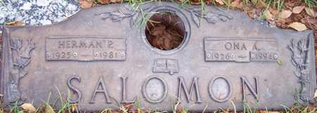 SALOMON, ONA A. - Maricopa County, Arizona | ONA A. SALOMON - Arizona Gravestone Photos