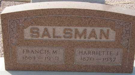 SALSMAN, FRANCIS M. - Maricopa County, Arizona | FRANCIS M. SALSMAN - Arizona Gravestone Photos