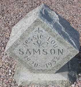 SAMSON, JESSIE LOU - Maricopa County, Arizona | JESSIE LOU SAMSON - Arizona Gravestone Photos